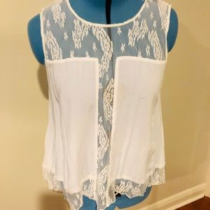 Tops - Ethyl lace tank top